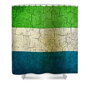 Grunge Sierra Leone Flag Shower Curtain