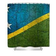 Grunge Solomon Islands Flag Shower Curtain