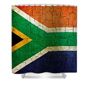 Grunge South Africa Flag Shower Curtain
