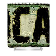 Grunge Style Chicago Sign Shower Curtain