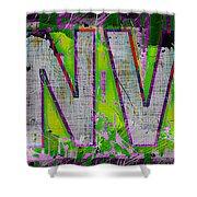 Grunge Style Denver Sign Shower Curtain