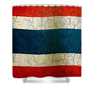Grunge Thailand Flag Shower Curtain