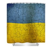 Grunge Ukraine Flag Shower Curtain