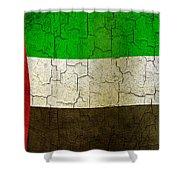 Grunge United Arab Emirates Flag Shower Curtain