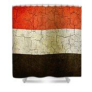 Grunge Yemen Flag Shower Curtain