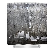 Grungy Concrete Wall Shower Curtain