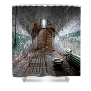 Grungy Prison Cell Shower Curtain