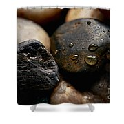 Rocks And Drops Shower Curtain
