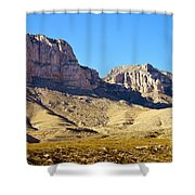 Guadalupe Peaks Shower Curtain