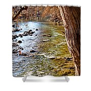 Guadalupe River View Shower Curtain