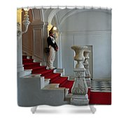 Guard At Catherine Palace In Russia Shower Curtain