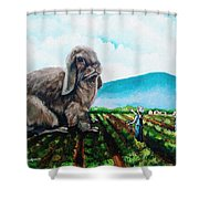 Guard The Carrots Shower Curtain