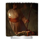 Guardian Angel Shower Curtain by Tamer and Cindy Elsharouni