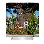 Guardian Of The Flowers Shower Curtain