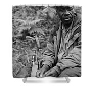 Guardian Of The Mountain Gorillas Shower Curtain