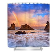 Guardians Of The Sea Shower Curtain by Darren  White