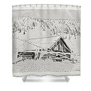 Guarding Grandpa's Cabin Shower Curtain