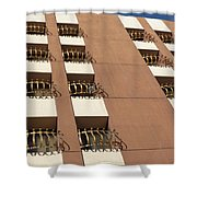 Guardrails And Stripes Shower Curtain