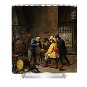 Guardroom With The Deliverance Of Saint Peter Shower Curtain