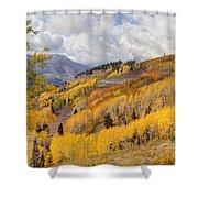 Guardsman Pass Aspen - Big Cottonwood Canyon - Utah Shower Curtain
