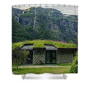 Gudvangen Norway Style Sunroof Shower Curtain