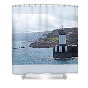 Guernsey Lighthouse Shower Curtain