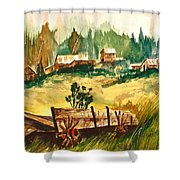 Guess We'll Settle Here IIi Shower Curtain