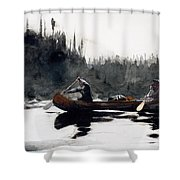 Guides Shooting Rapids Shower Curtain by Winslow Homer