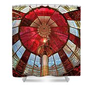 Guiding Red Shower Curtain