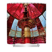 Guiding Red Light Shower Curtain