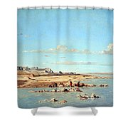 Guigou's Washerwomen On The Banks Of The Durance Shower Curtain