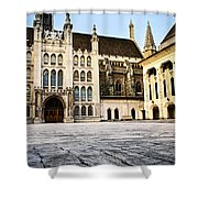 Guildhall Building And Art Gallery Shower Curtain by Elena Elisseeva