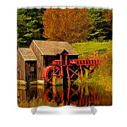 Guildhall Grist Mill Shower Curtain
