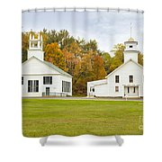 Guildhall Village Historic District In Autumn Vermont Shower Curtain