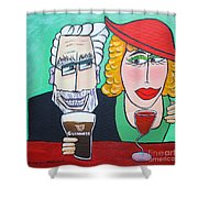 Guinness Man With The Woman Of His Dreams Shower Curtain