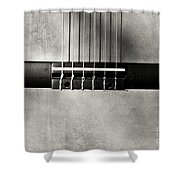 Guitar Abstract In Monochrome Shower Curtain