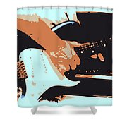 Guitar And Man Shower Curtain