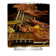 Guitar Autumn 2 Shower Curtain