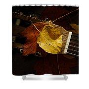 Guitar Autumn 4 Shower Curtain