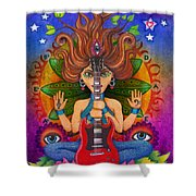 Guitar Goddess Shower Curtain
