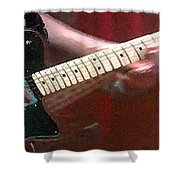 Guitar In Action Shower Curtain