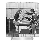 Guitar Interplay At The Day On The Green 6-6-76 Shower Curtain