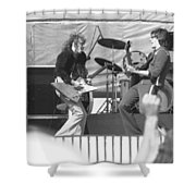 Guitar Jam At Day On The Green In Oakland 1976 Shower Curtain