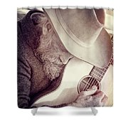 Guitar Man Shower Curtain