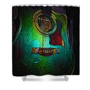 Guitar Metalica Shower Curtain