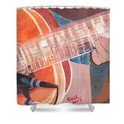 Guitar Music Shower Curtain