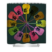 Guitar O Clock Shower Curtain