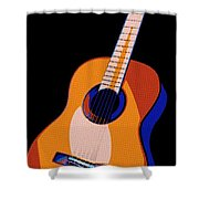 Guitar Of Colors Shower Curtain