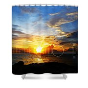 Guitar Sunset - Guitars By Sharon Cummings Shower Curtain