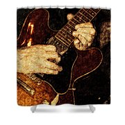 Guitar Tinted Copper Shower Curtain